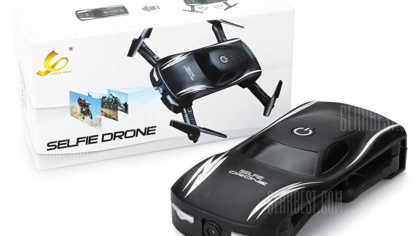 185 Mini Selfie Drone Plegable – BNF – Negro