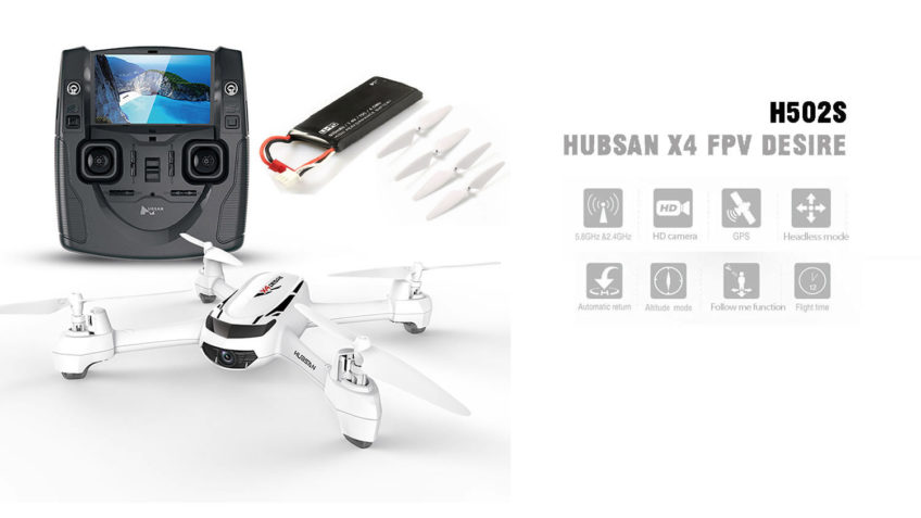 Hubsan X4 H502S 720P 5.8G FPV con GPS