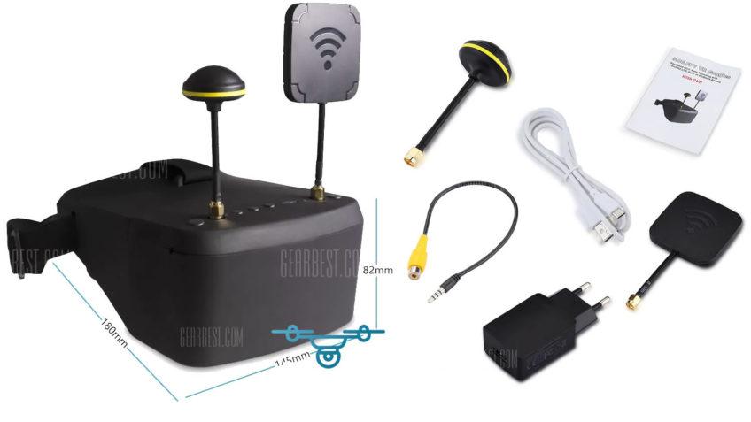 LS-800D Gafas FPV 5.8Ghz con raceband (40ch) y con DVDR