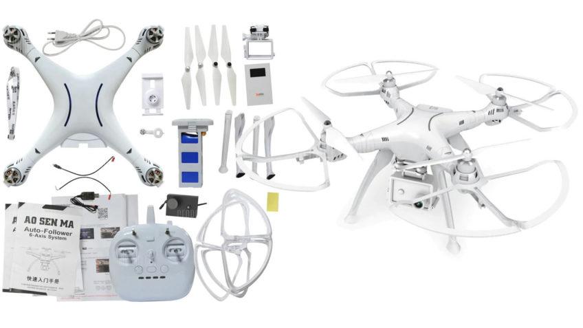Drone Brushless AOSENMA CG037 Cycone con Doble GPS RTF