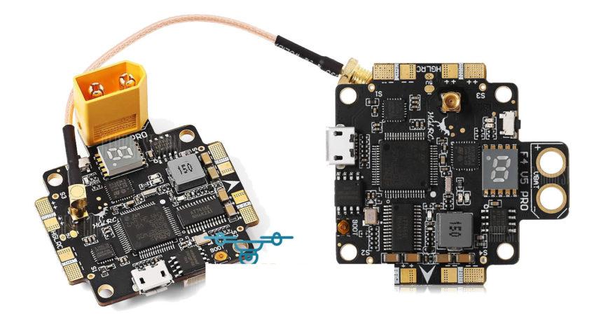 HGLRC F4 V5 PRO Controladora + TX FPV