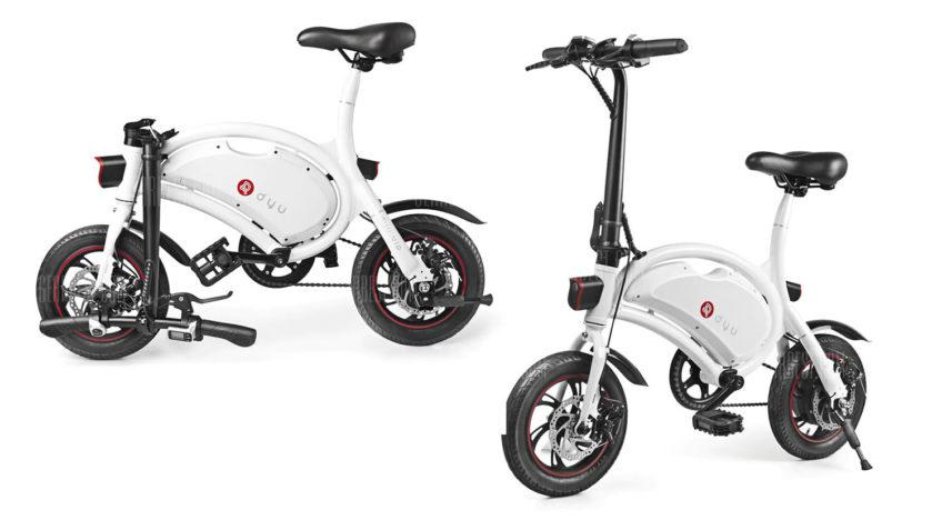 Bicicleta eléctrica F-Wheel DYU D2 (Blanco)
