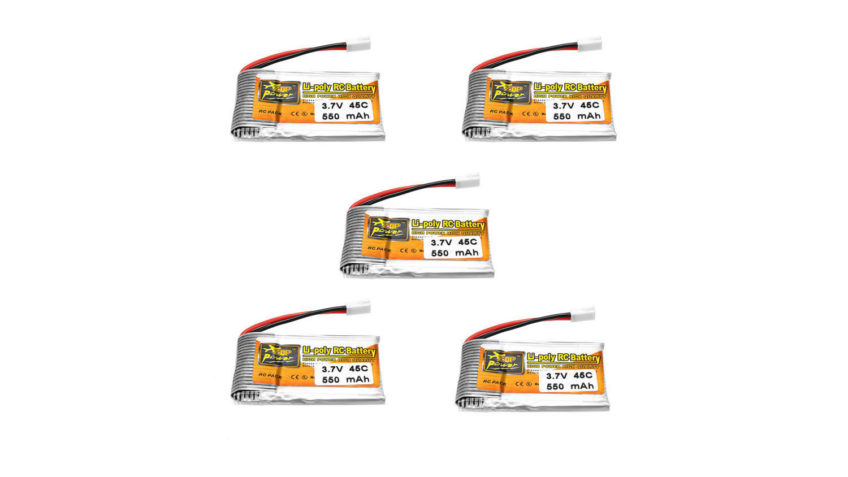 5  Baterias 1S 550mah Zop Power