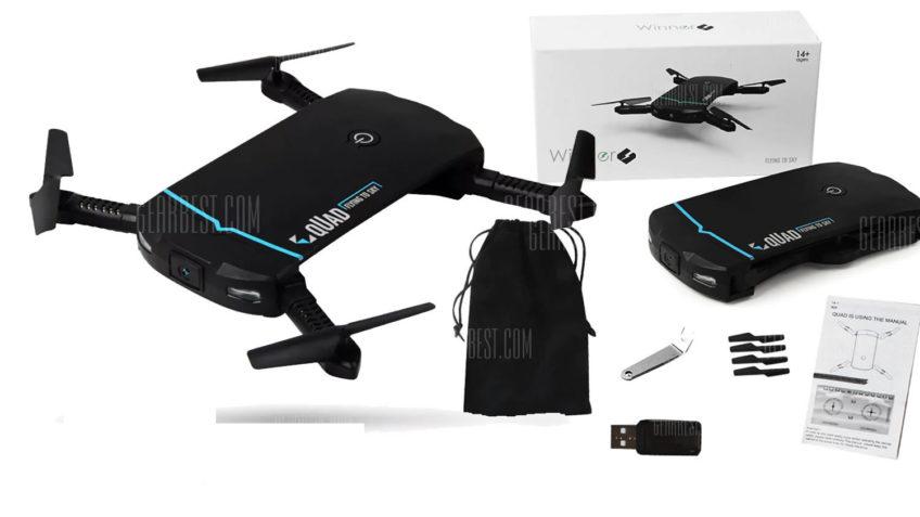 LIDIRC RC102 Drone de Bolsillo Plegable