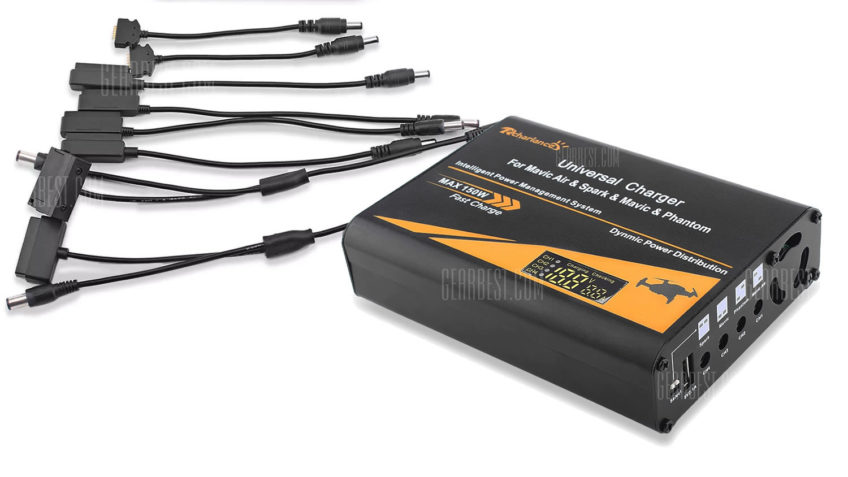 Multicagador para Baterías DJI (Phantom, Mavic y Spark)