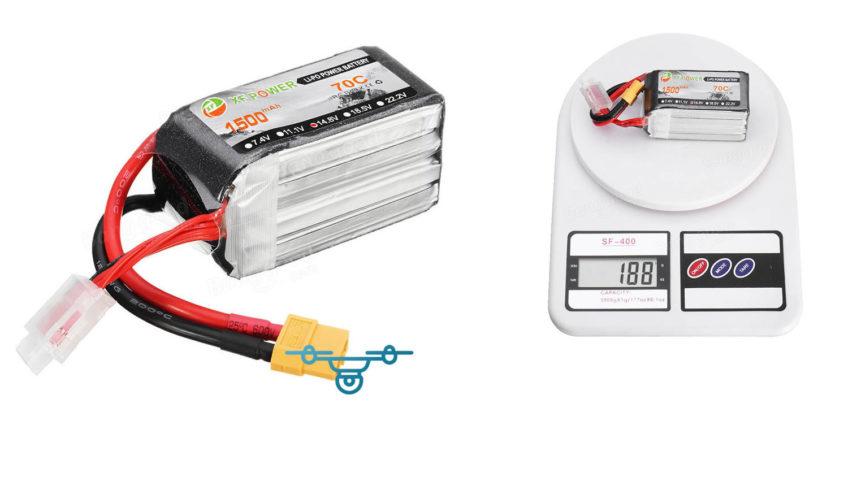 Bateria XF Power 1500mAh 70C 4S
