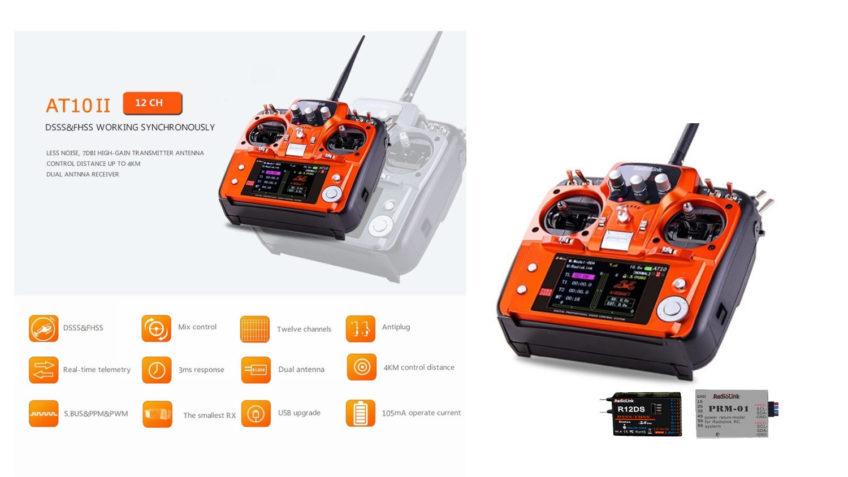 RadioLink AT10 II + R12DS + PRM-01