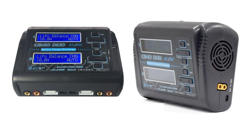 Cargador baterias dual, para cargar dos baterías